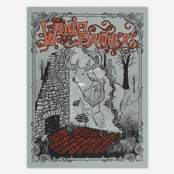 2013 Fall Tour Signed Poster by The Wood Brothers for sale on hellomerch.com