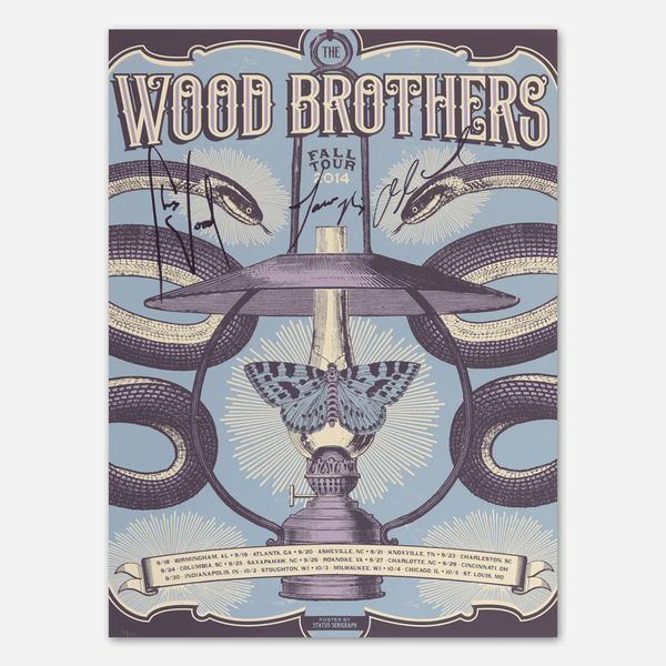 2014 Fall Tour 2 Signed Poster by The Wood Brothers for sale on hellomerch.com
