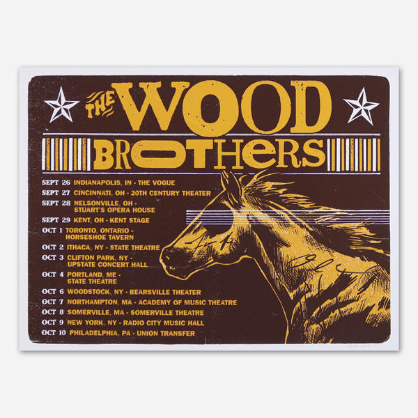 2015 Sep-Oct Tour Signed Poster by The Wood Brothers for sale on hellomerch.com