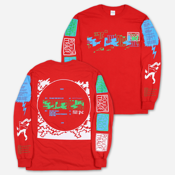 Wide Awake Rough Trade Red Long Sleeve T-Shirt by Parquet Courts for sale on hellomerch.com