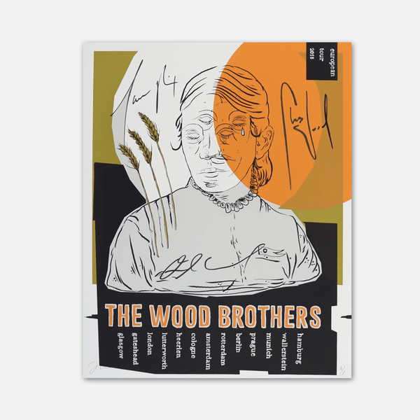 2018 Europe Tour Signed Poster by The Wood Brothers for sale on hellomerch.com