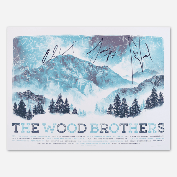 2018 Fall Tour Signed Poster by The Wood Brothers for sale on hellomerch.com