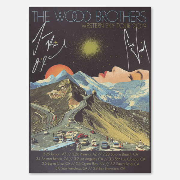 2019 Western Sky Tour Signed Poster by The Wood Brothers for sale on hellomerch.com