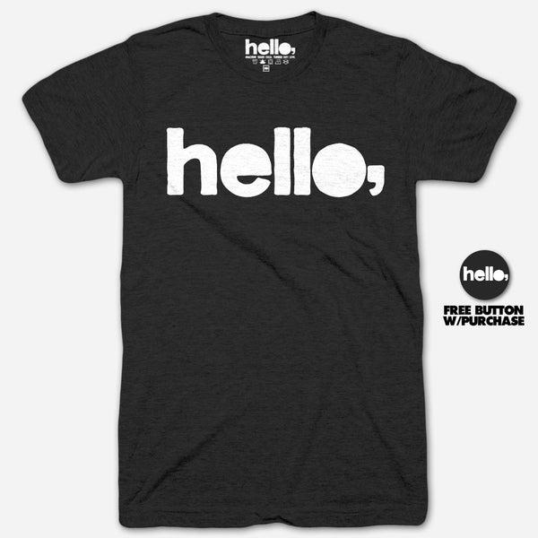 Hello Merch Logo Black Tri-Blend by Hello Merch for sale on hellomerch.com