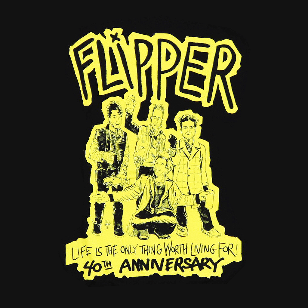 Flipper 40th Anniversary Black T-Shirt - Flipper - Hello Merch