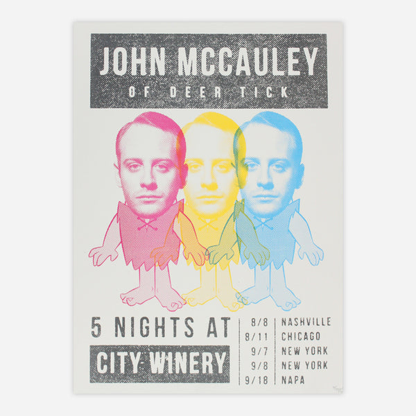 John Mccauley - 5 Nights At City Winery Poster by Deer Tick for sale on hellomerch.com