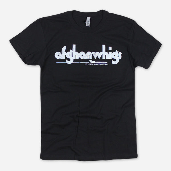 '77 North American Tour Black T-Shirt by Afghan Whigs for sale on hellomerch.com