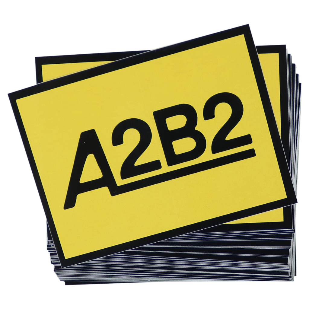 a2 Sticker 50-Pack