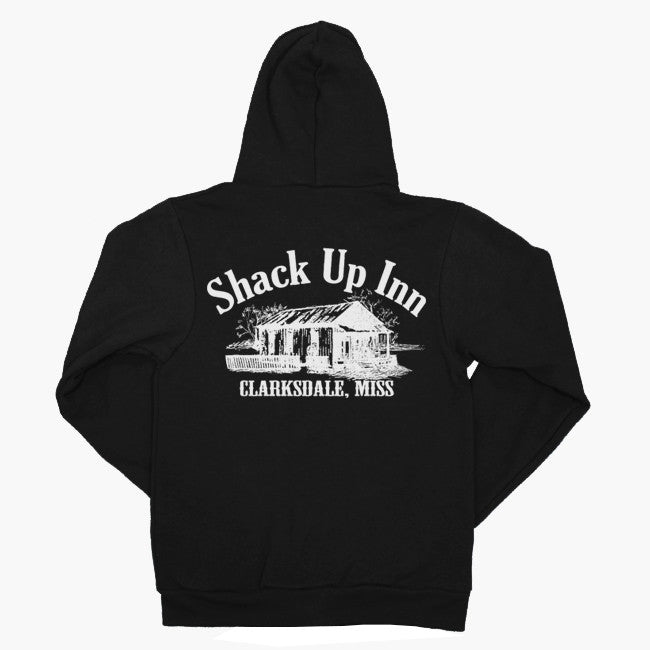 SUI Logo Black Zip Up Hoodie - Shack Up Inn - Hello Merch