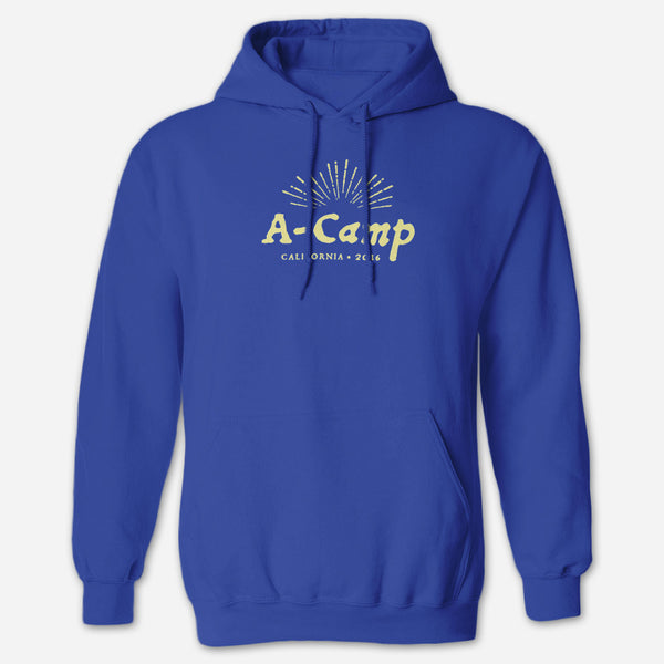 A-Camp 2016 Royal Blue Hoodie by Autostraddle for sale on hellomerch.com
