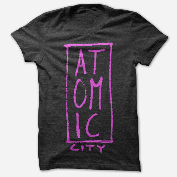 Atomic City Logo Black Tri-Blend by Atomic City for sale on hellomerch.com