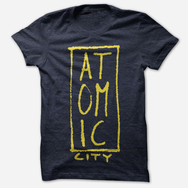Atomic City Logo Navy Tri-Blend
