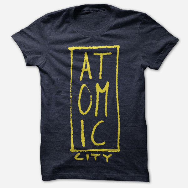 Atomic City Logo Navy Tri-Blend by Atomic City for sale on hellomerch.com