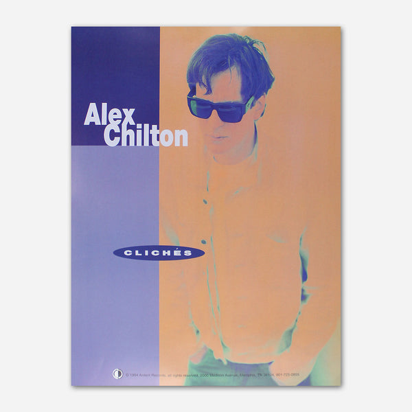 Alex Chilton - Cliches Poster by Ardent Music for sale on hellomerch.com