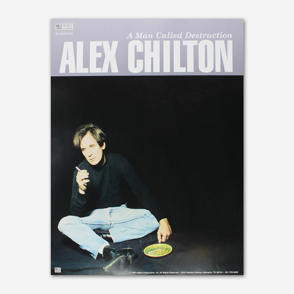 Alex Chilton - A Man Called Destruction Poster by Ardent Music for sale on hellomerch.com