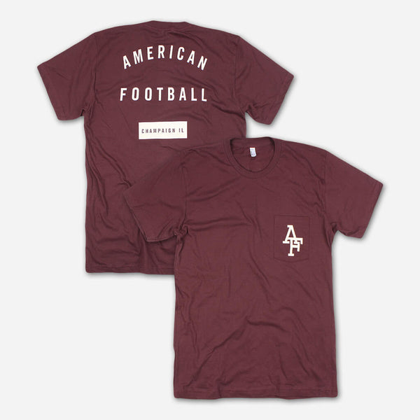 AF Champaign, IL Truffle Pocket T by American Football for sale on hellomerch.com