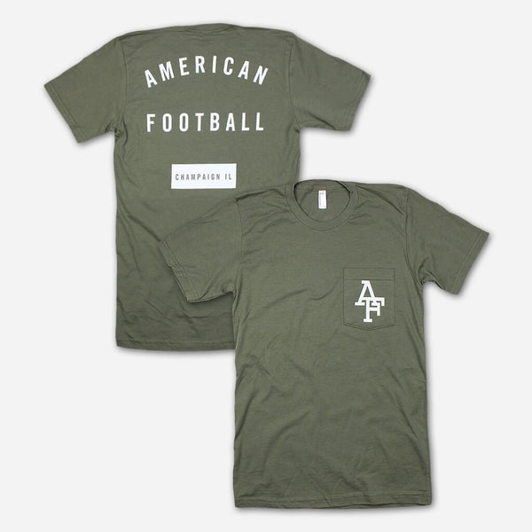 AF Champaign, IL Lieutenant Pocket T by American Football for sale on hellomerch.com