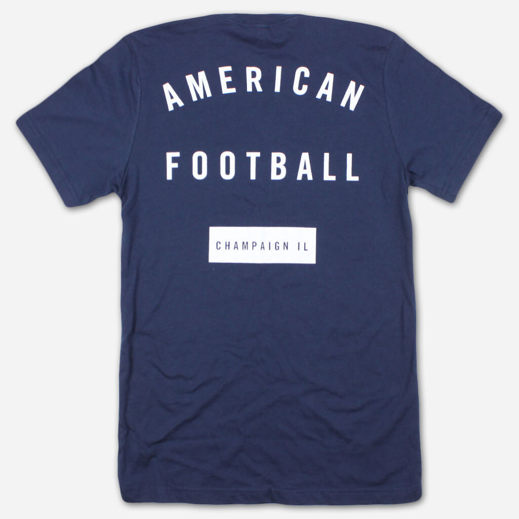 AF Champaign, IL Navy Pocket T - American Football - Hello Merch