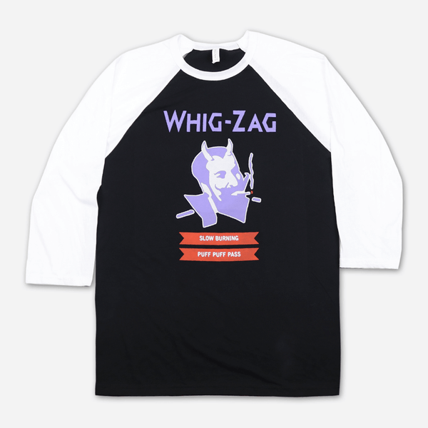 Whig-Zag Baseball T-Shirt by Afghan Whigs for sale on hellomerch.com