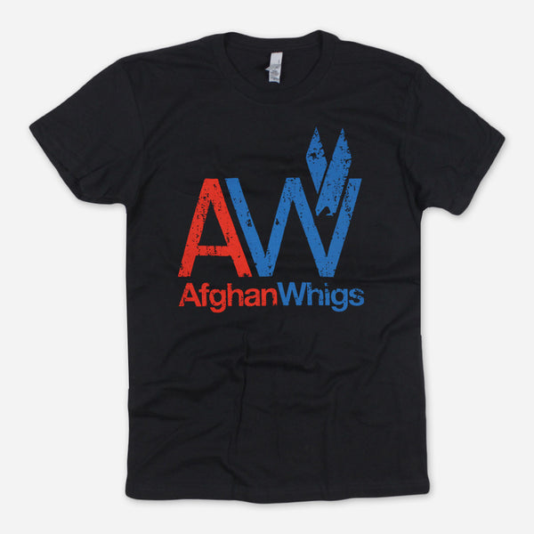 AW Big Print Black T-Shirt by Afghan Whigs for sale on hellomerch.com