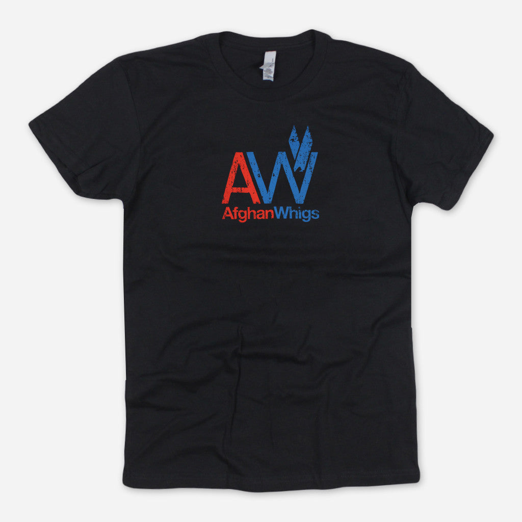 AW Small Print Black T-Shirt