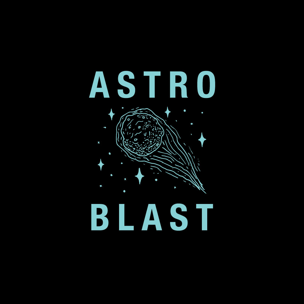 Astro Blast Comet Black Pocket T-Shirt