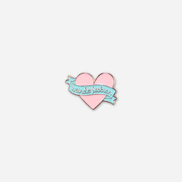 Weirdo Lesbian Pin by Autostraddle for sale on hellomerch.com