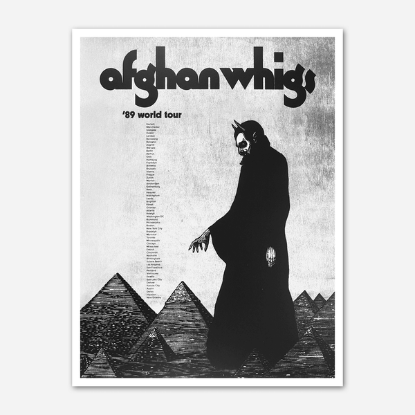 '89 World Tour Poster by Afghan Whigs for sale on hellomerch.com