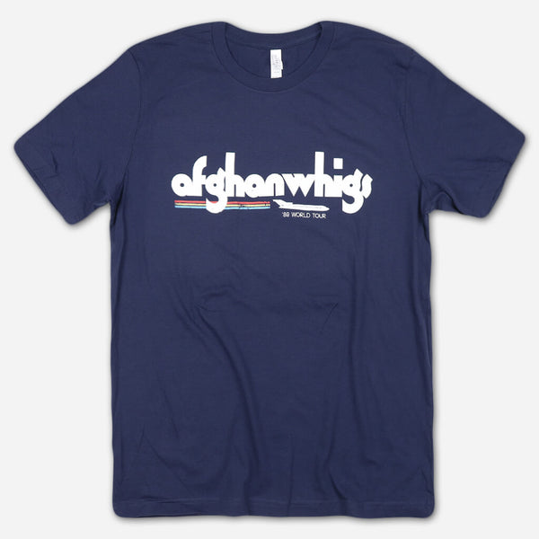 '89 World Tour Navy T-Shirt by Afghan Whigs for sale on hellomerch.com