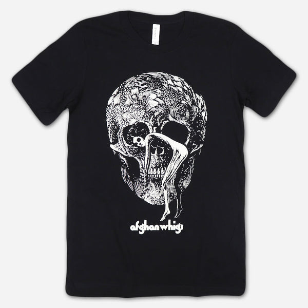 Skull Black T-Shirt by Afghan Whigs for sale on hellomerch.com
