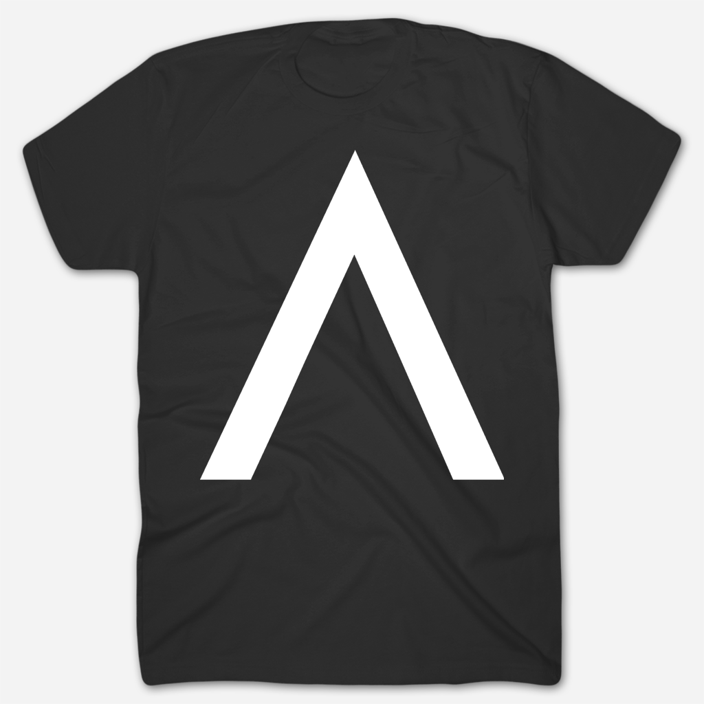 A Logo Black T-Shirt