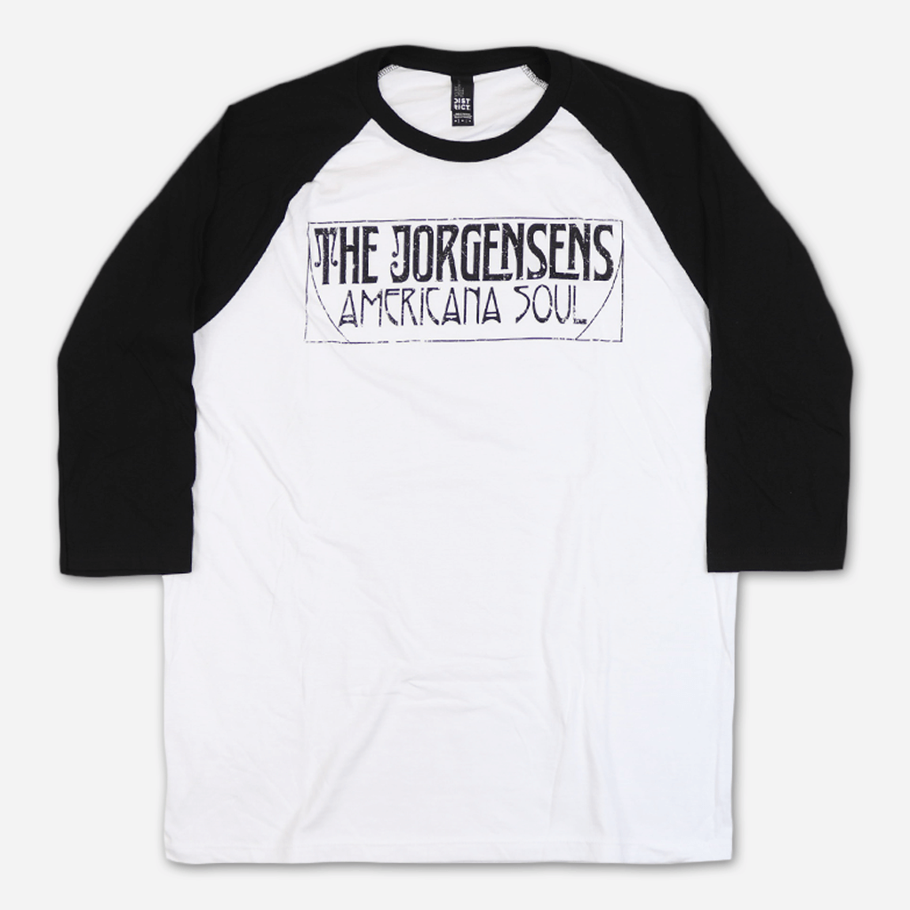 Americana Soul White and Black Baseball T-Shirt
