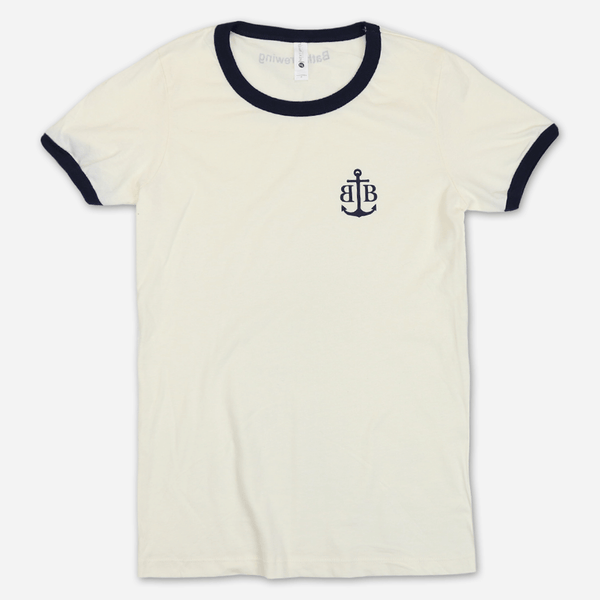 bf2d427aa Anchor Cream Women's Ringer T-Shirt by Bath Brewing Company for sale on  hellomerch.