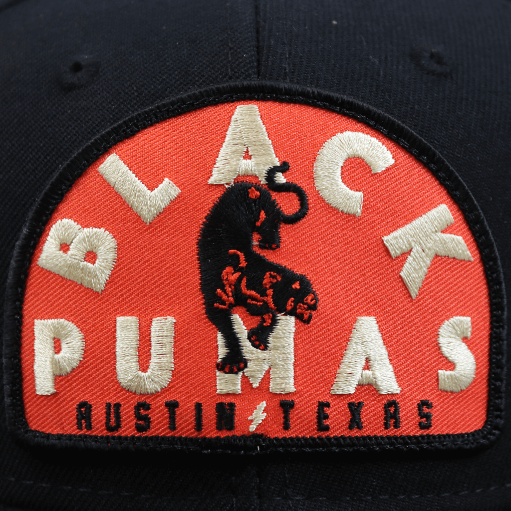 Austin Patch Black Flatbill Snapback Hat
