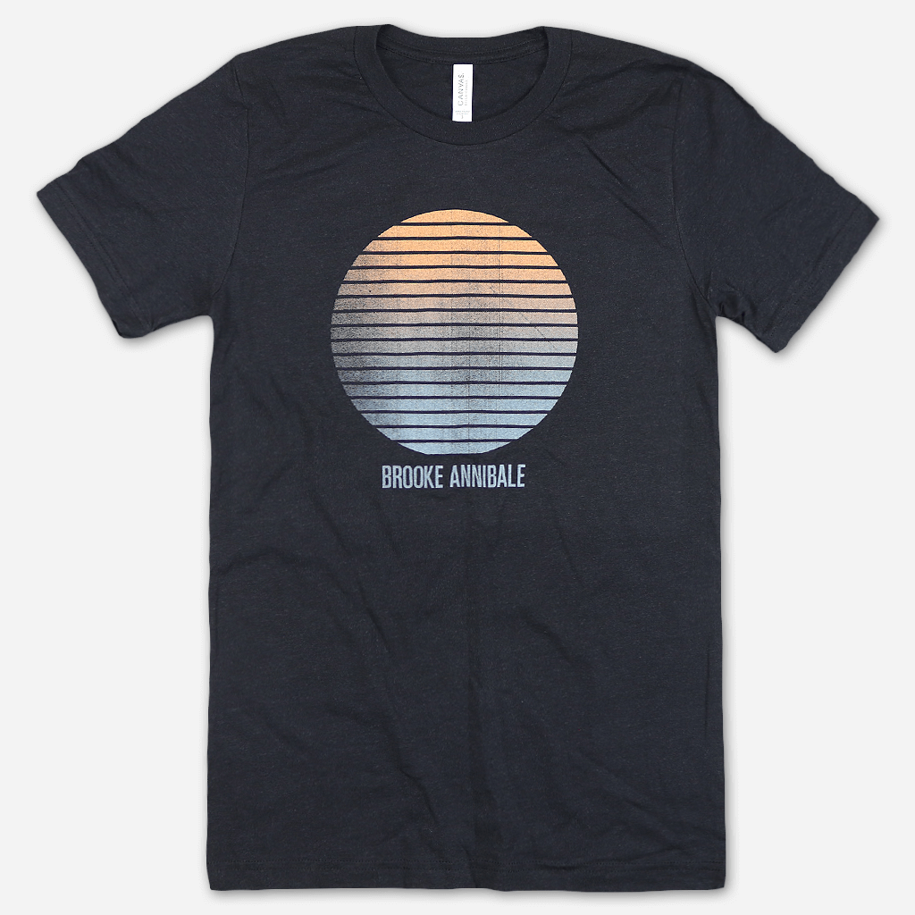 Glow Heather Black T-Shirt