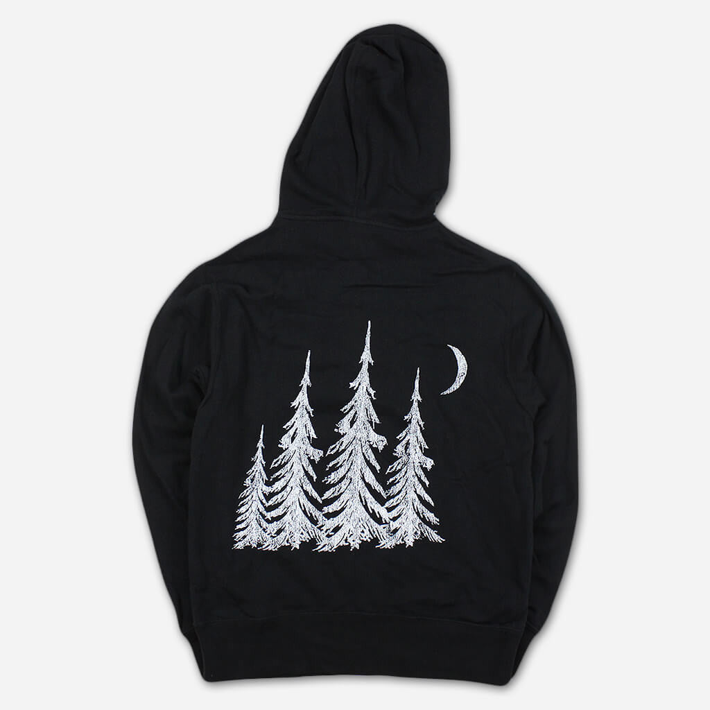 Trees Black Zip Hoodie - Big Wild - Hello Merch