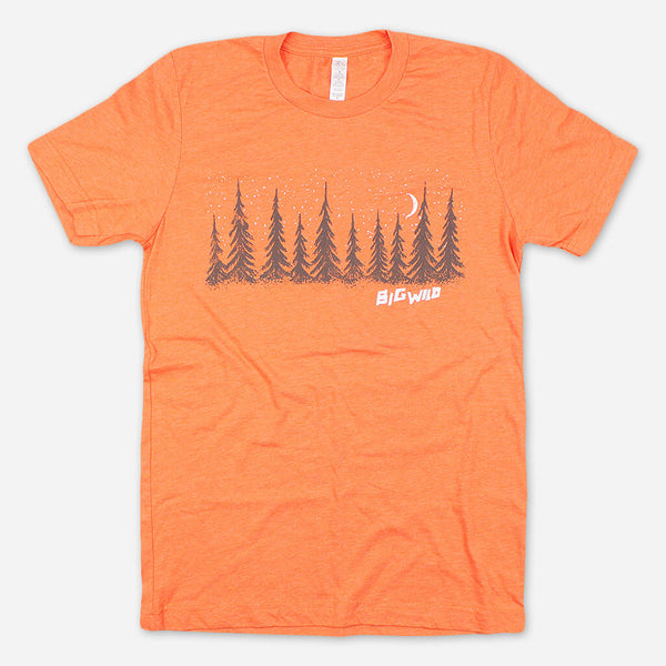Trees Orange T-Shirt by Big Wild for sale on hellomerch.com