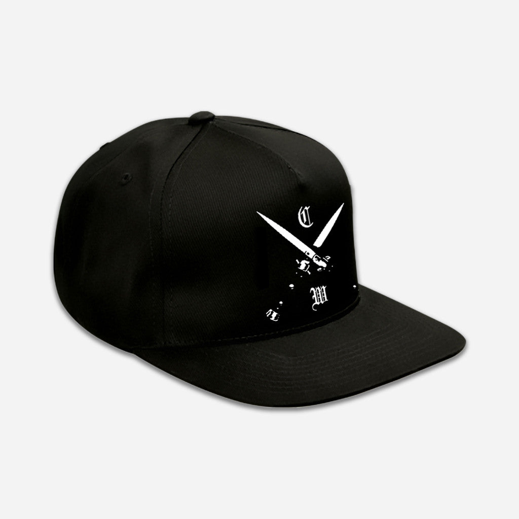 Blades Black Embroidered Snapback Hat - Chelsea Wolfe - Hello Merch
