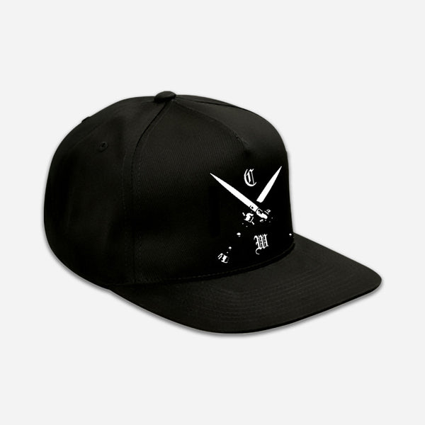 Blades Black Embroidered Snapback Hat by Chelsea Wolfe for sale on hellomerch.com