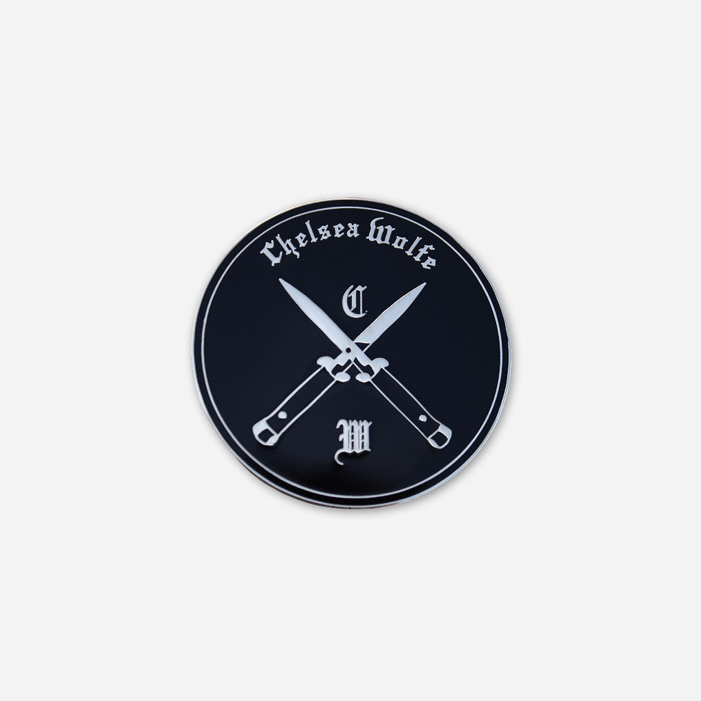 Blades Black & Silver Enamel Pin - Chelsea Wolfe - Hello Merch