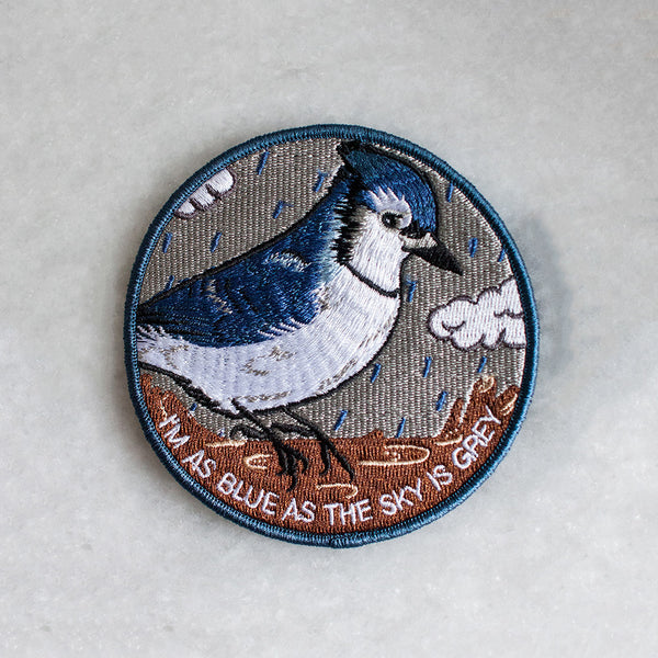 I'm As Blue Iron-On Patch by American Football for sale on hellomerch.com