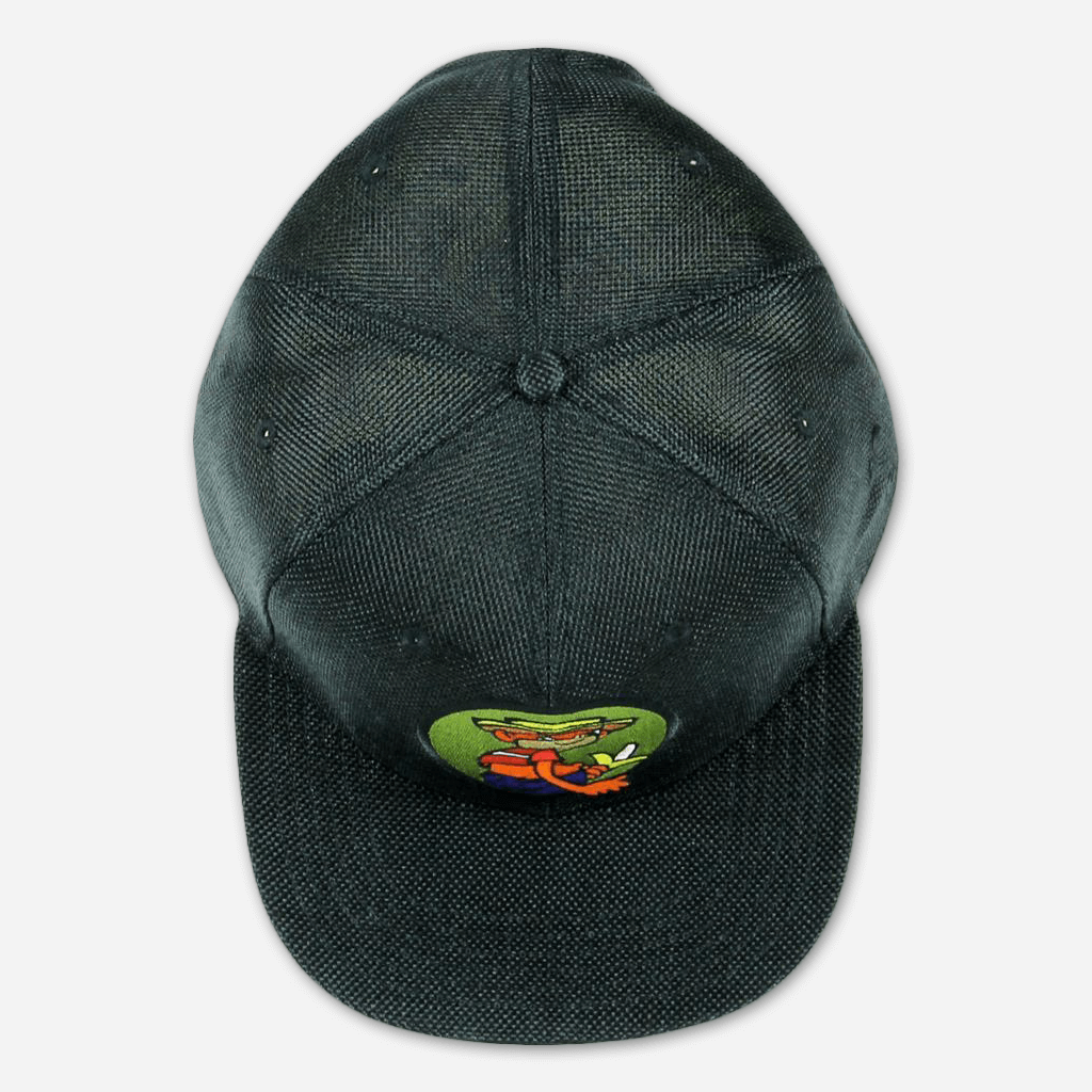 Johnny Chimpo Black Hemp Fitted Hat