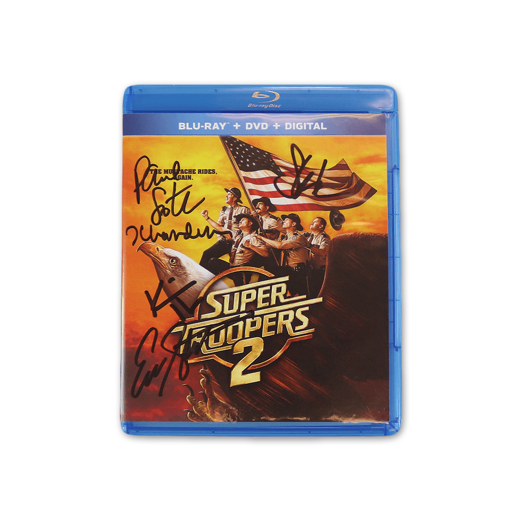 Autographed Super Troopers 2 Blu-ray, DVD & Digital Edition