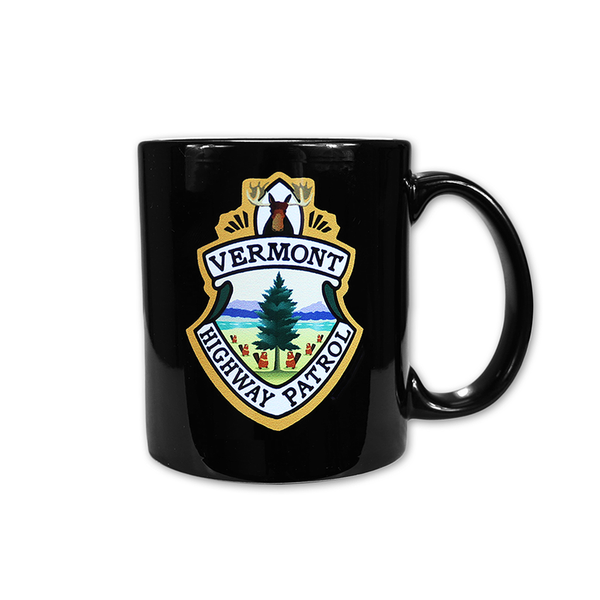 Vermont Highway Patrol Coffee Mug by Broken Lizard for sale on hellomerch.com