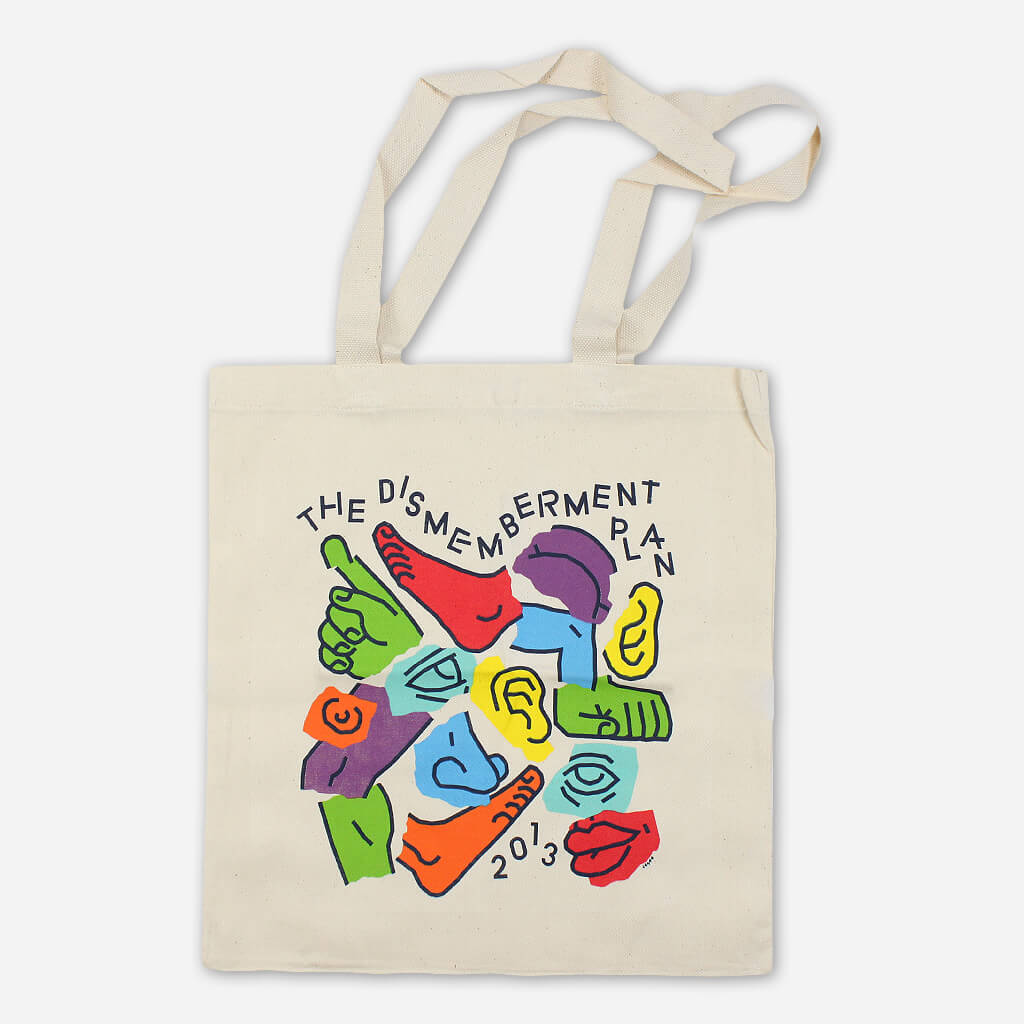 Body Parts Natural Canvas Tote Bag - The Dismemberment Plan - Hello Merch