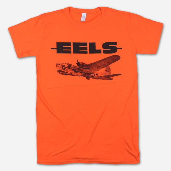Airplane Orange T-Shirt by Eels for sale on hellomerch.com