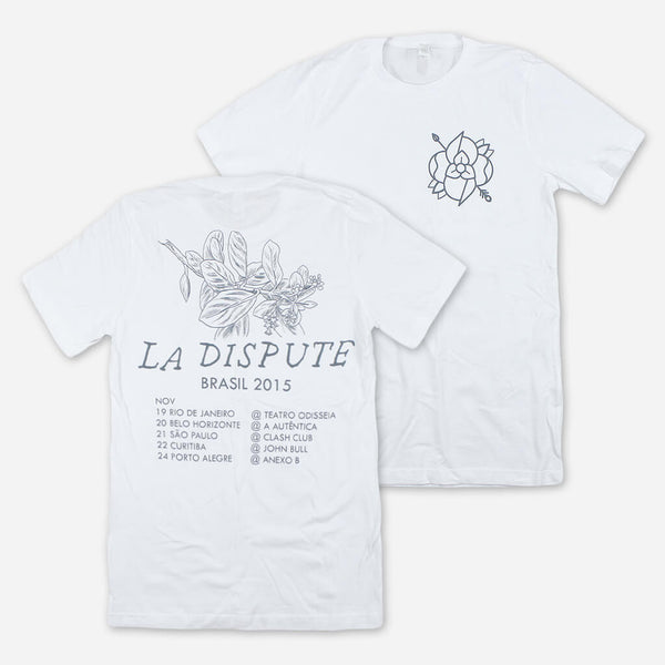 Brasil 2015 Tour White T-Shirt by La Dispute for sale on hellomerch.com