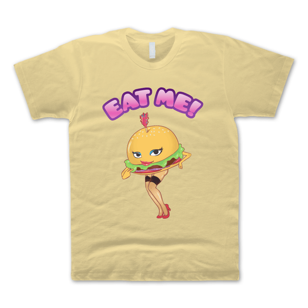 Eat Me Yellow Haze T-Shirt by Broken Lizard for sale on hellomerch.com