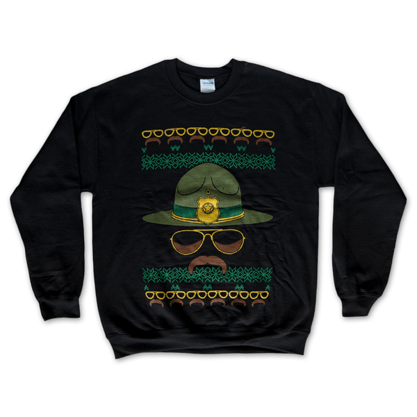 Super Troopers Holiday Black Sweatshirt by Broken Lizard for sale on hellomerch.com