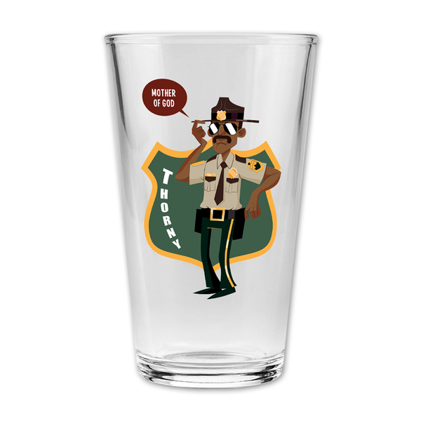 Thorny Pint Glass by Broken Lizard for sale on hellomerch.com
